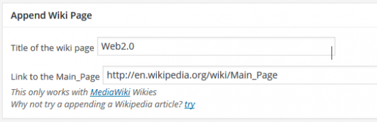 wiki append