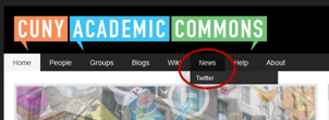 twitter news dropdown