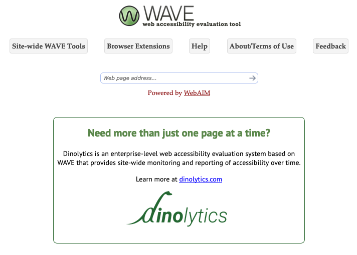 Wave main page